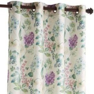 "Pier 1 Tiffany Floral lined 84"" Grommet Curtain"